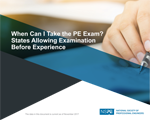 When Can I Take the PE Exam? States Allowing Examination Before Experience